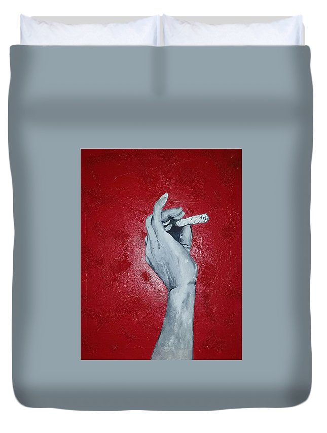 Duvet Cover featuring the digital art One Love by Mr Holland