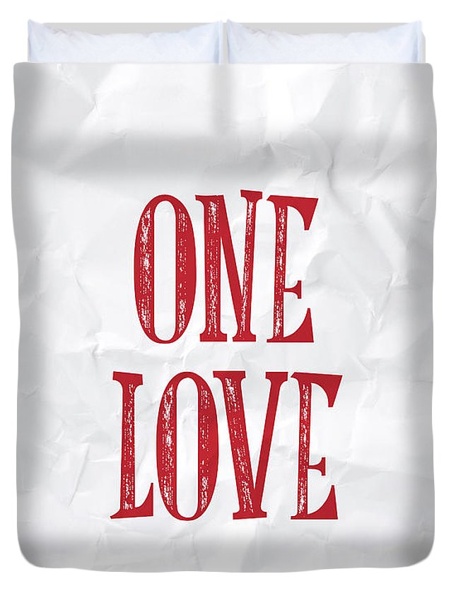 One Love Duvet Cover featuring the digital art One Love by Samuel Whitton