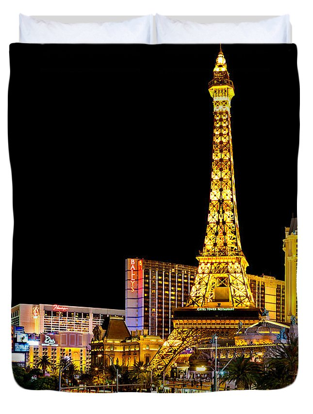 Las Vegas Duvet Cover featuring the photograph One Night In Vegas by Az Jackson