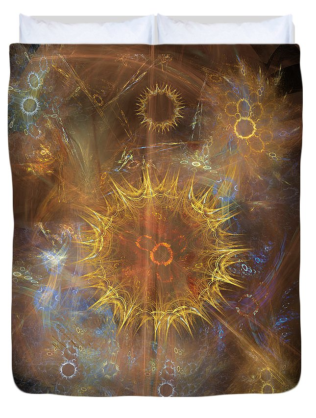 One Ring To Rule Them All Duvet Cover featuring the digital art One Ring To Rule Them All by John Beck