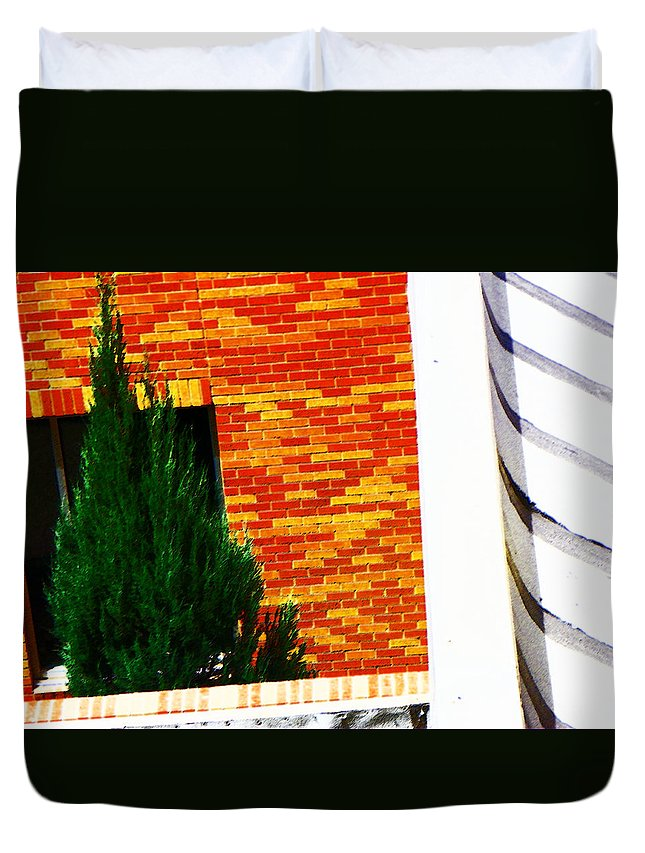 Abstract Duvet Cover featuring the photograph One Tree At The Hospital by Lenore Senior