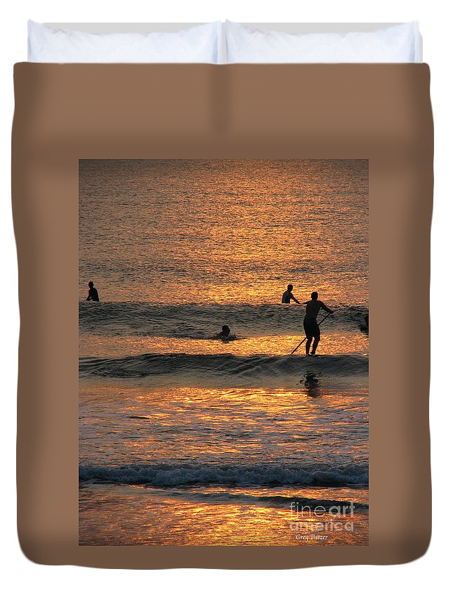Art For The Wall...patzer Photography Duvet Cover featuring the photograph One With Nature by Greg Patzer