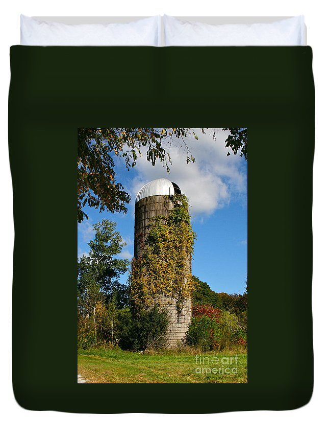 Silo Duvet Cover featuring the photograph One With Nature by Rick Monyahan