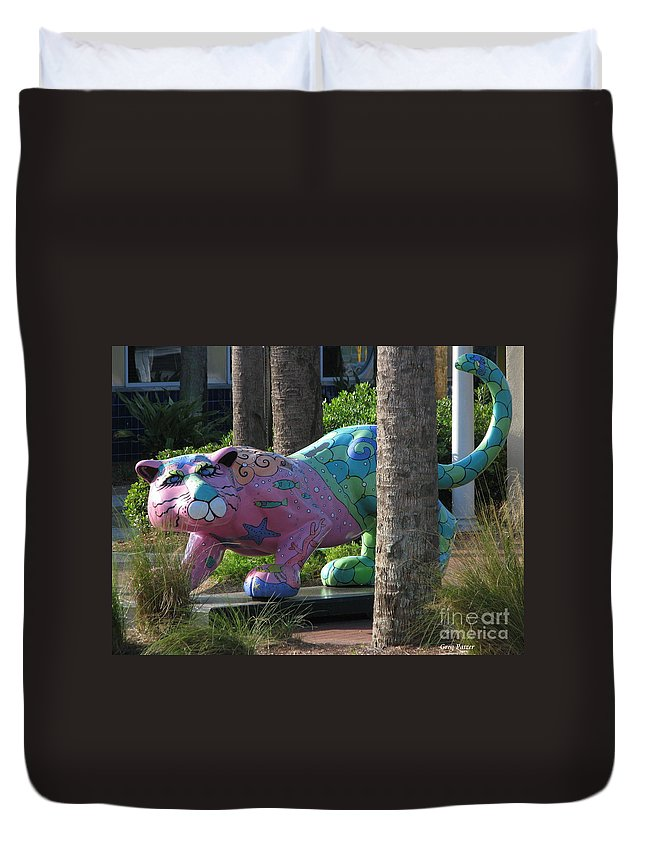 Patzer Duvet Cover featuring the photograph Only At The Beach by Greg Patzer