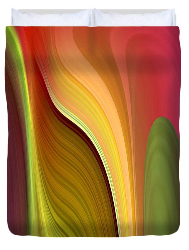 Abstract Duvet Cover featuring the digital art Oomph by Ruth Palmer