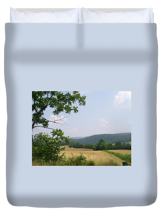 Pennsylvania Duvet Cover featuring the photograph Open Country by R Chambers