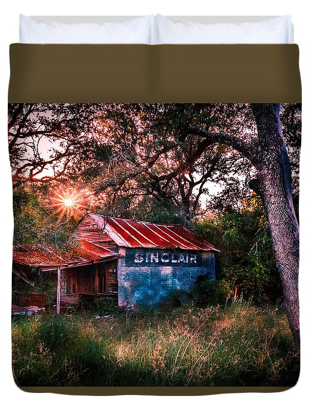 Sinclair Duvet Cover featuring the photograph Open For Business by Ryan Dove
