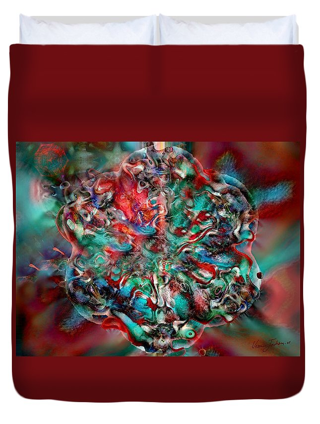 Heart Passion Life Duvet Cover featuring the digital art Open Heart by Veronica Jackson