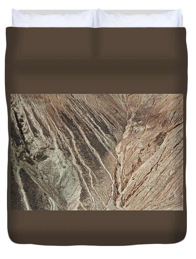 Industry Duvet Cover featuring the photograph open pit mine Kennecott, copper, gold and silver mine operation by Tjeerd Kruse