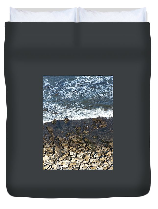 Ocean Duvet Cover featuring the photograph Opponents by Shari Chavira