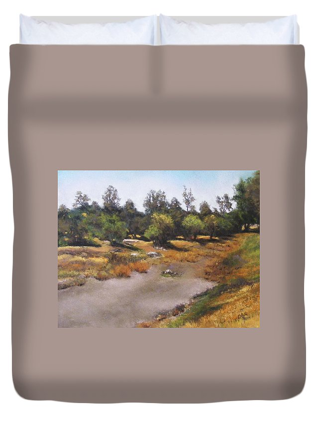 Optimism Duvet Cover featuring the painting Optimism by Darlene Jaeger