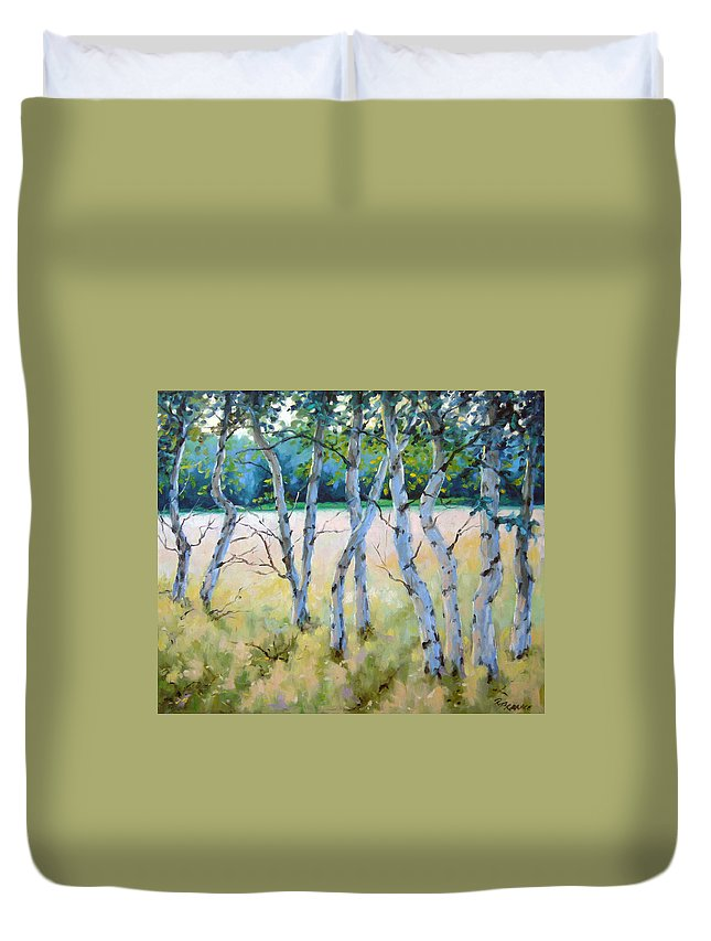 Art Duvet Cover featuring the painting Opus No 4 by Richard T Pranke