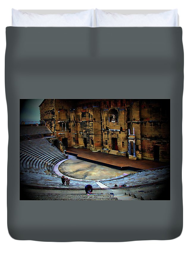 Orange Duvet Cover featuring the photograph Orange Amphitheater by Hugh Smith