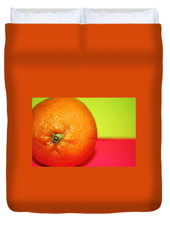 Oranges Duvet Cover featuring the photograph Orange by Linda Sannuti