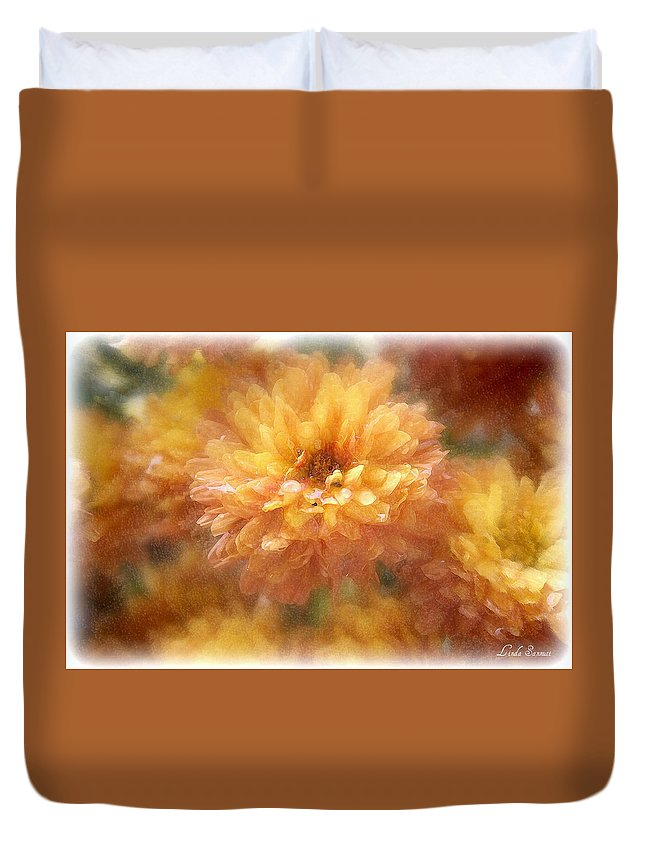 Flowers Duvet Cover featuring the photograph Orange Passion by Linda Sannuti