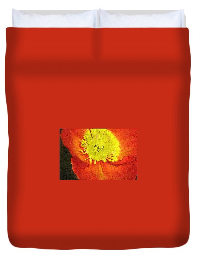 Poppy Duvet Cover featuring the photograph Orange Poppy by Donna Bentley