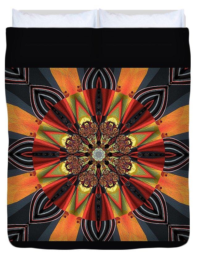Best Modern Art Duvet Cover featuring the digital art Orange Rush by Jim Pavelle