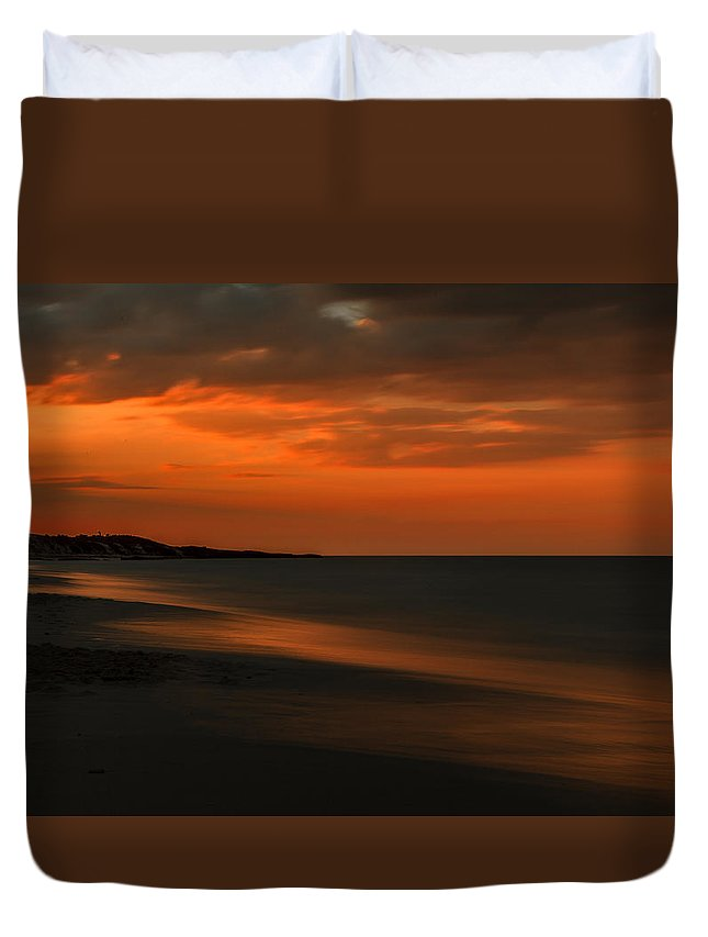 Atlantic Ocean Duvet Cover featuring the photograph Orange Sunset by Nathan Masters