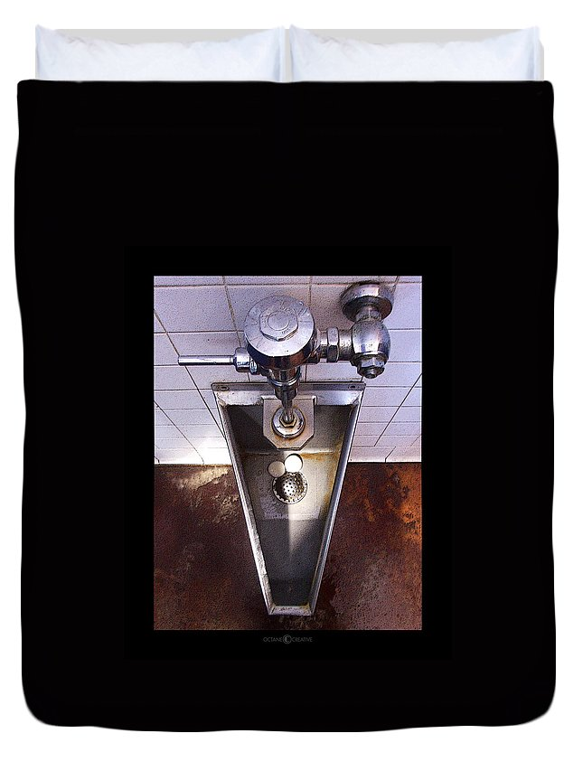 Urinal Duvet Cover featuring the photograph Orcas Island Urinal by Tim Nyberg