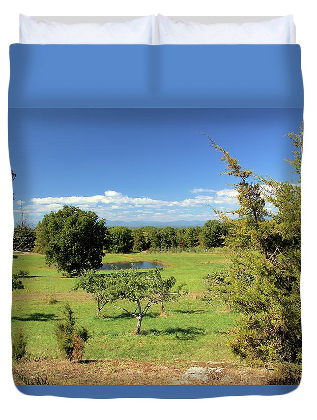 Orchard Duvet Cover featuring the photograph Orchard 1 H by Robert McCulloch