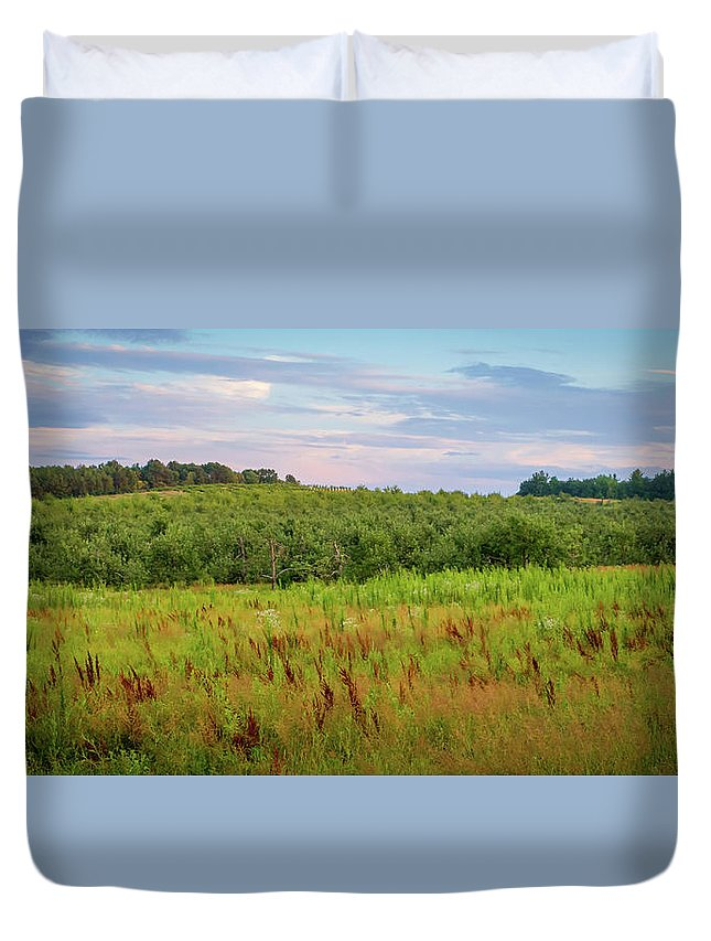 Orchard Duvet Cover featuring the photograph Orchard Hills by Debbie Gracy