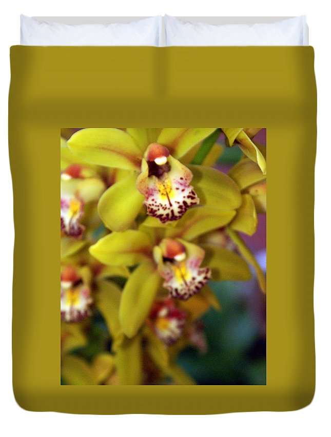 Flower Duvet Cover featuring the photograph Orchid 11 by Marty Koch