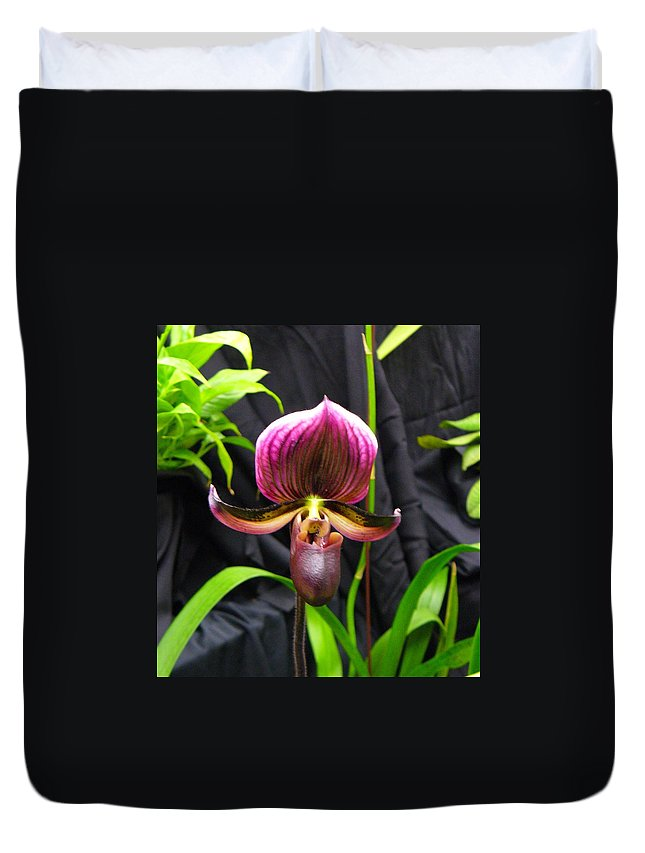 Orchid Duvet Cover featuring the photograph Orchid 2 by Peggy King
