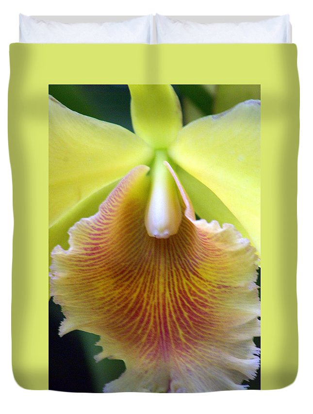 Flower Duvet Cover featuring the photograph Orchid 21 by Marty Koch