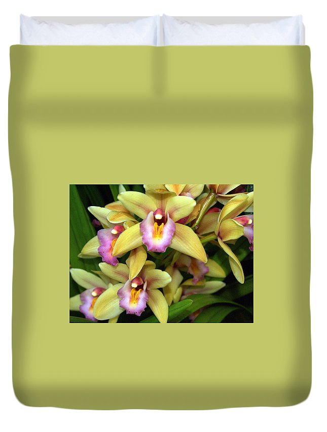 Flower Duvet Cover featuring the photograph Orchid 7 by Marty Koch