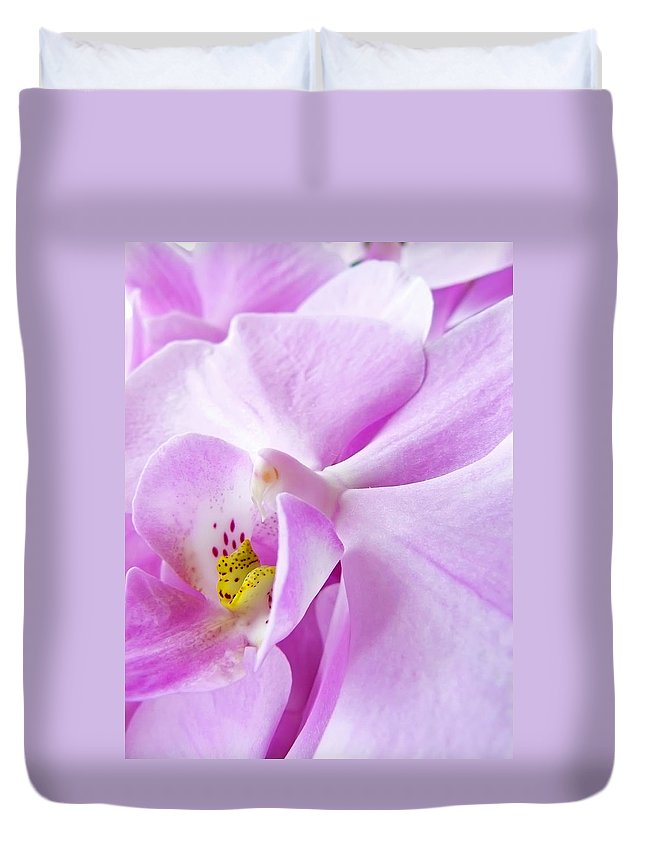 Orchid Duvet Cover featuring the photograph Orchid by Daniel Csoka