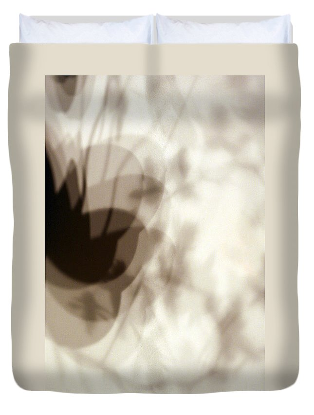 Shadow Duvet Cover featuring the photograph Orchid Shadow 2 by Marilyn Hunt