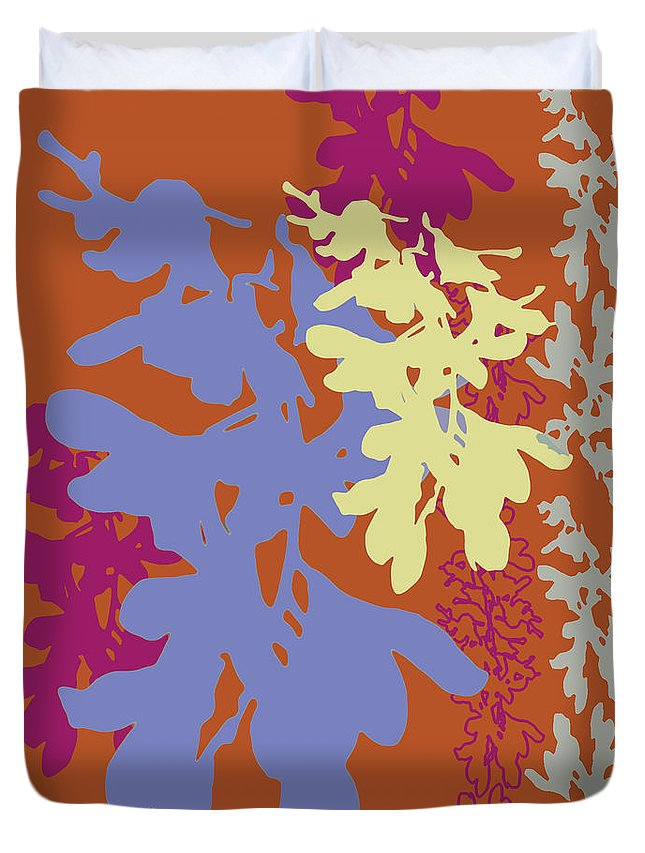Lavender Duvet Cover featuring the digital art Orchids Caramel by Ceil Diskin