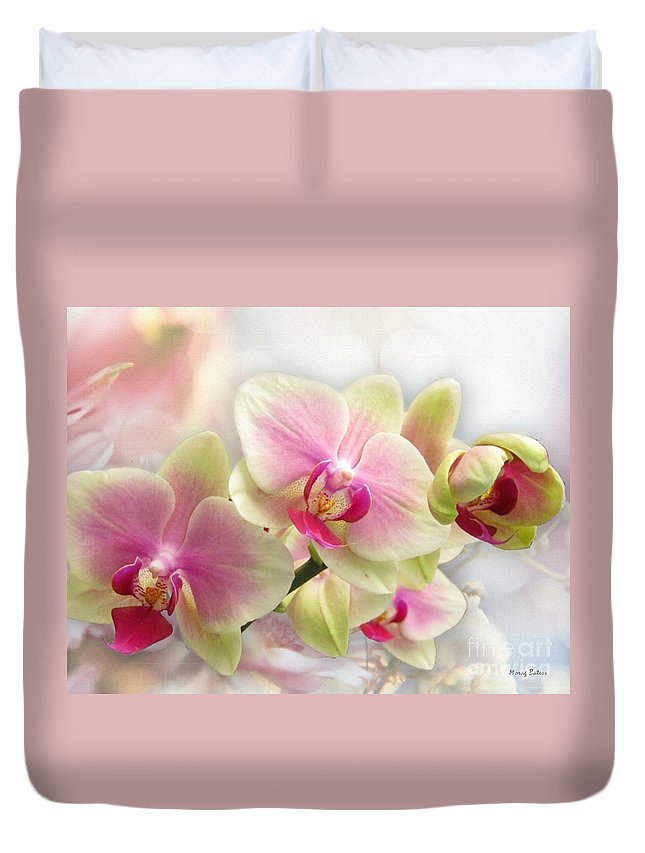 Orchids Duvet Cover featuring the photograph Orchids by Morag Bates