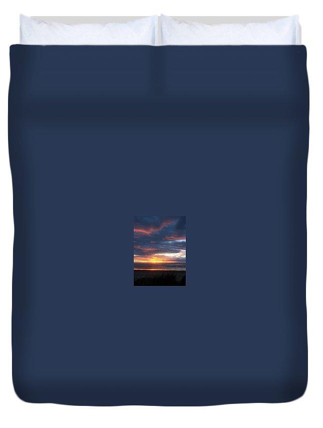 Beach Duvet Cover featuring the photograph Oregon Coast 11 by Deahn   Benware