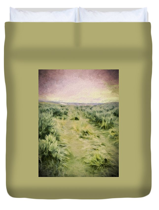 Oregon Trail Duvet Cover featuring the photograph Oregon Trail 2 by Debbie Smith