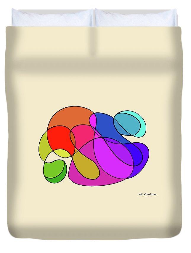 Modern Duvet Cover featuring the digital art Organic Kaleidoscope by ME Kozdron