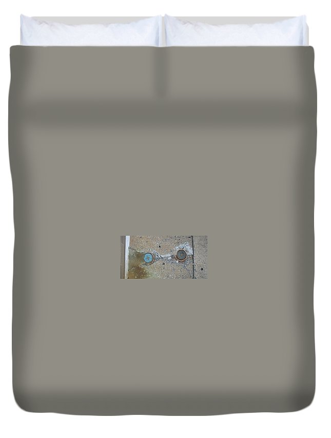 Photograph Duvet Cover featuring the photograph Original Damaged Pipes by Thomas Valentine