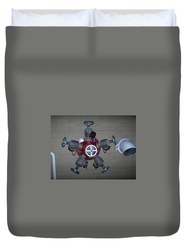 Photograph Duvet Cover featuring the photograph Original Male Pipe by Thomas Valentine
