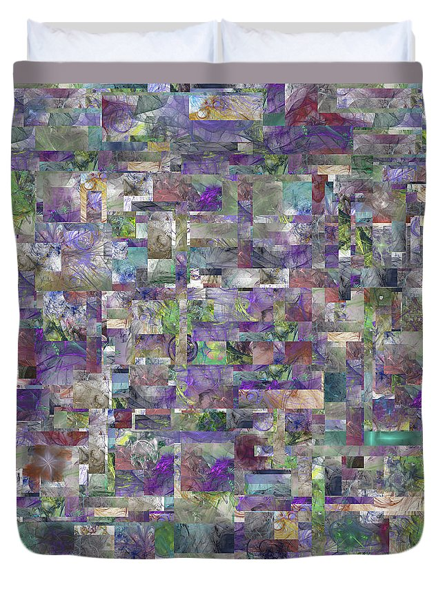Abstract Duvet Cover featuring the digital art Orion's Quilt by Betsy Knapp