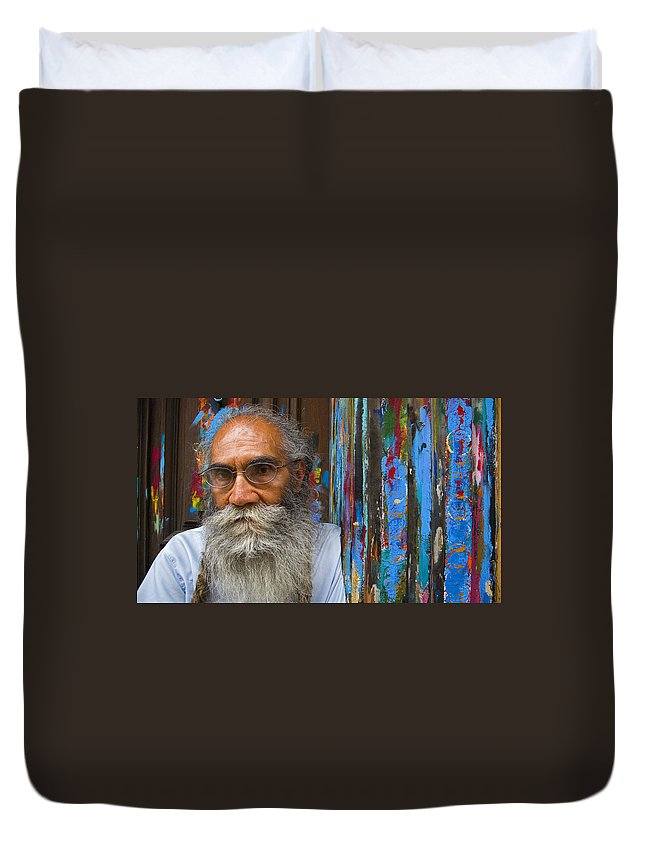 Architecture Duvet Cover featuring the photograph Orizaba Painter by Skip Hunt