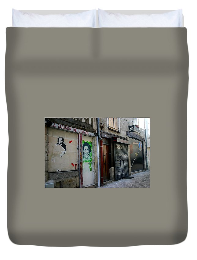Alley Duvet Cover featuring the photograph Orleans France Alley by Minaz Jantz