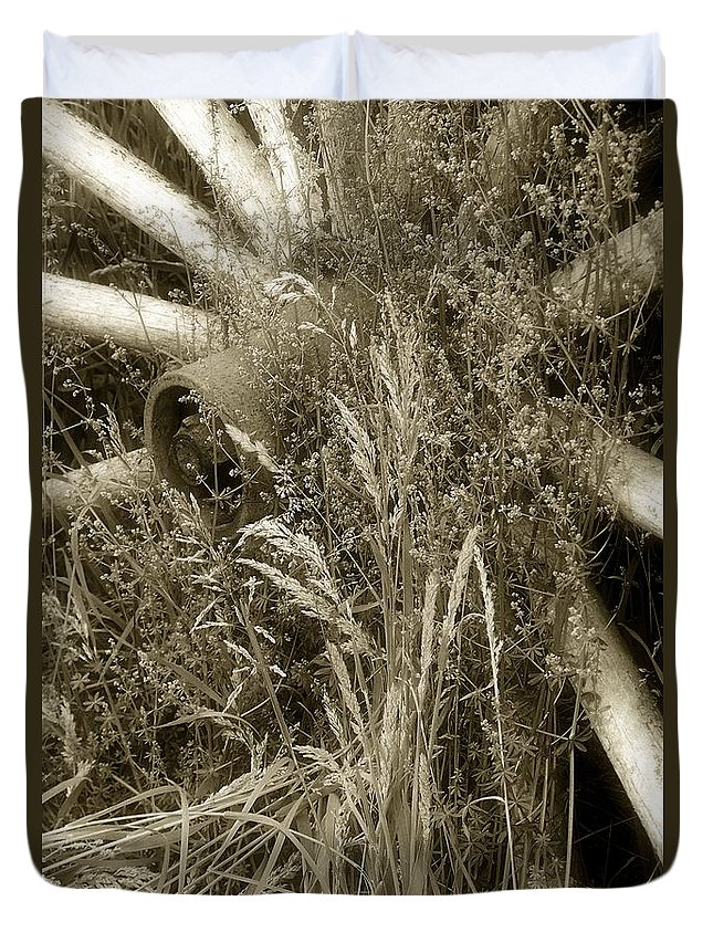 Abandoned Duvet Cover featuring the photograph Ornament For A Wild Garden by RC DeWinter