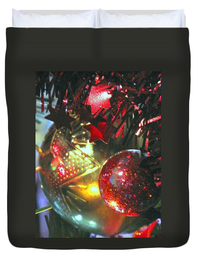 Ornaments Duvet Cover featuring the photograph Ornaments by Ian MacDonald