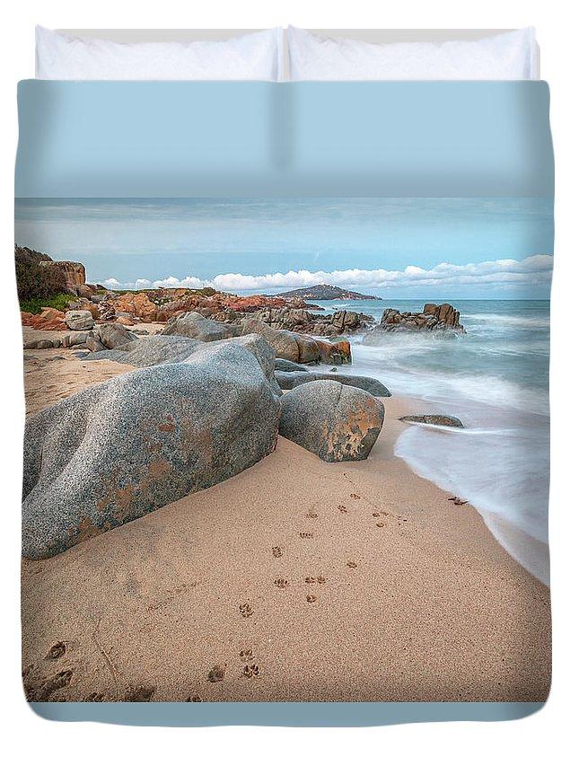 Scenery Duvet Cover featuring the photograph Orri Beach by Daniele Fanni