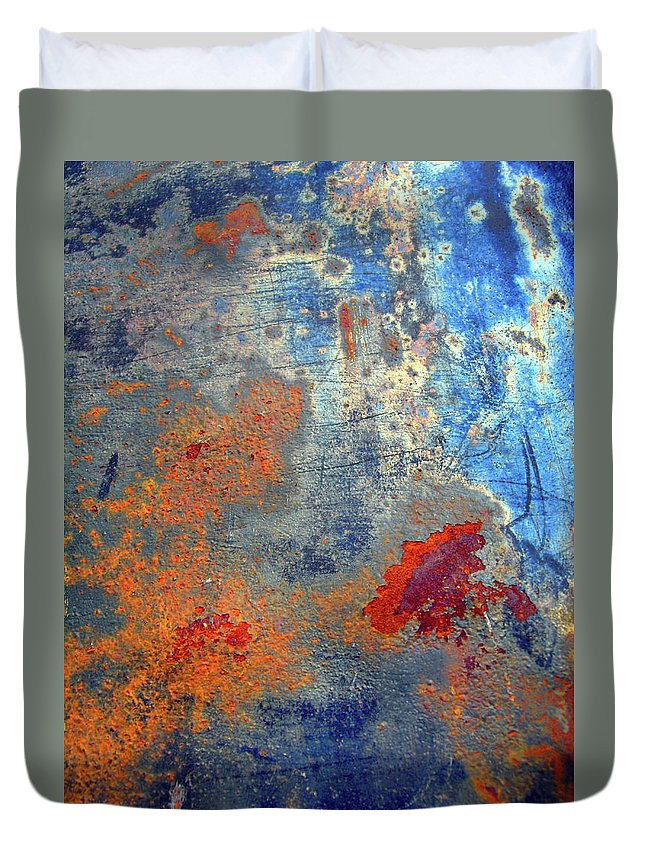 Abstract Duvet Cover featuring the photograph Other Worlds by Tara Turner