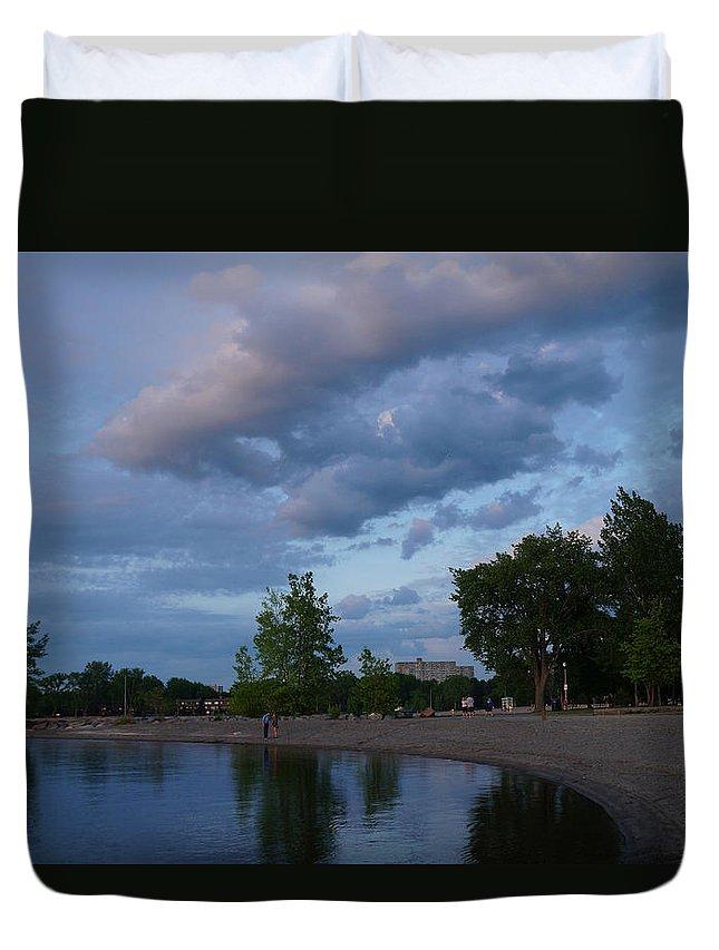 Water Duvet Cover featuring the photograph Ottawa River by Galia Nikolaeva
