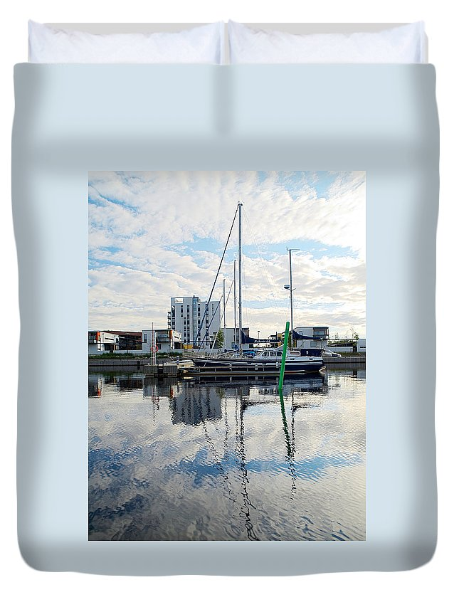 Oulu Duvet Cover featuring the photograph Oulu From The Sea 1 by Jouko Lehto