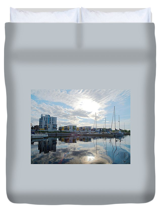 Oulu Duvet Cover featuring the photograph Oulu From The Sea 2 by Jouko Lehto