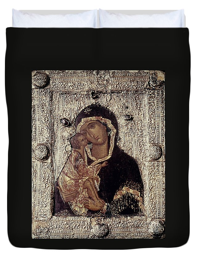 14th Century Duvet Cover featuring the photograph Our Lady Of Don by Granger