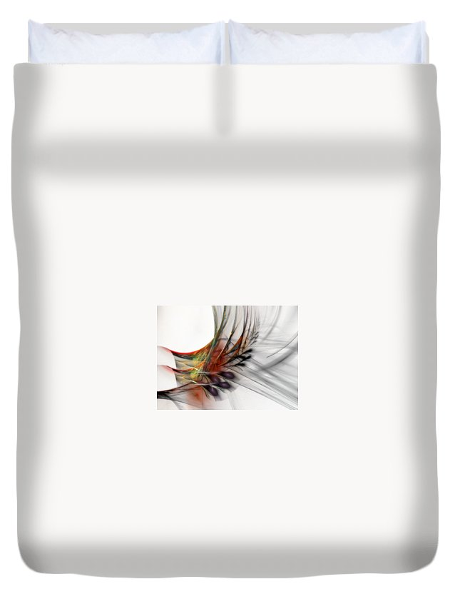Abstract Duvet Cover featuring the digital art Our Many Paths by NirvanaBlues